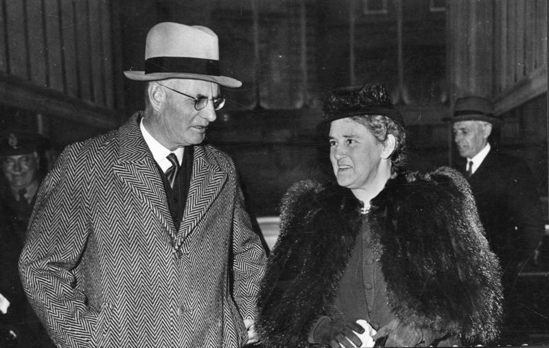 Elsie Curtin with Prime Minister John Curtin in Washington, USA, 23 April, 1944. John Curtin Prime Ministerial Library.