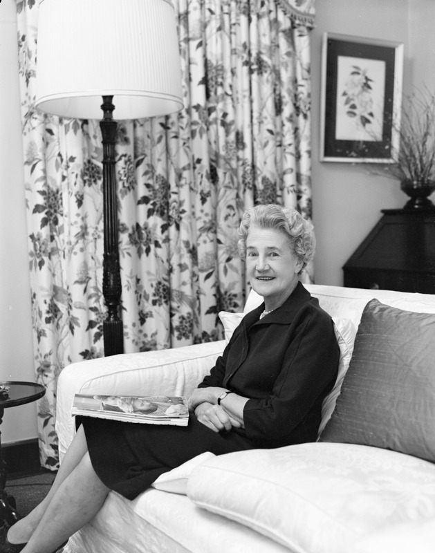 Dame Pattie Menzies, at The Lodge in 1962.